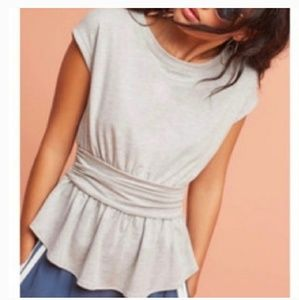 Anthropologie Postmark peplum batwing sleeve top